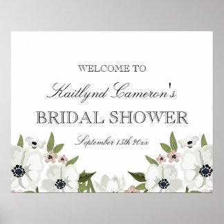 Poster Beau signe nuptiale floral de douche