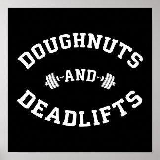 Poster Beignets et Deadlifts - séance d'entraînement