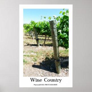 Poster Belle affiche de pays de vin !