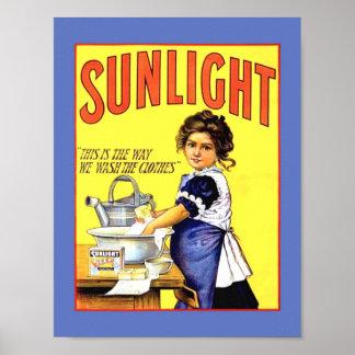 Poster Belle fille 1889 de savon de blanchisserie de