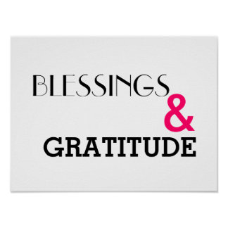 Poster Bénédictions et affiche de gratitude