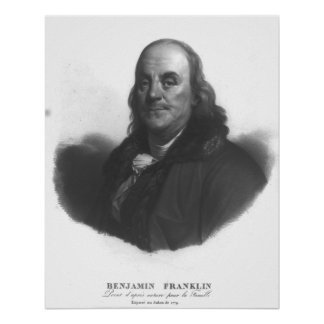 Poster BENJAMIN FRANKLIN par Antoine Maurin