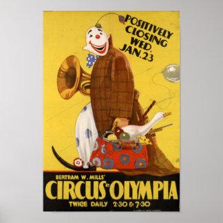 Poster Bertram fraise le' cirque à l'affiche d'Olympia
