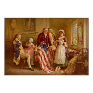 Poster Betsy Ross 1777 par Jean Léon Gerome Ferris