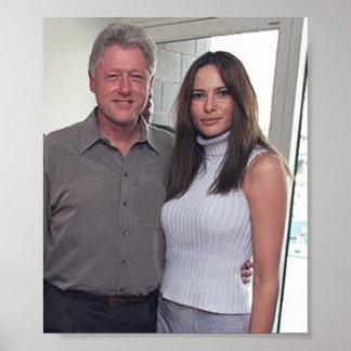 Poster Bill Clinton et l'atout de Melania aux 2000