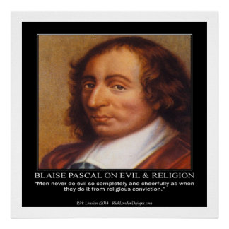 Poster Blaise Pascal et affiche mauvaise religieuse de