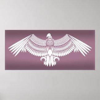 Poster Blanc de vautour sur l'affiche Ombrager-Violette