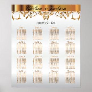 Poster Blanc et conception d'élément d'or - diagramme 16