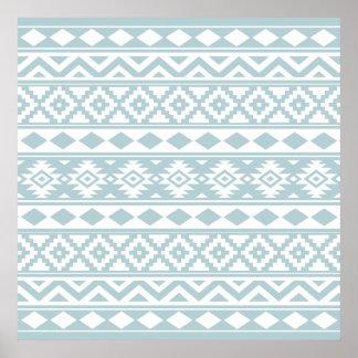 Poster Bleu aztèque et blanc d'oeufs de canard de Ptn