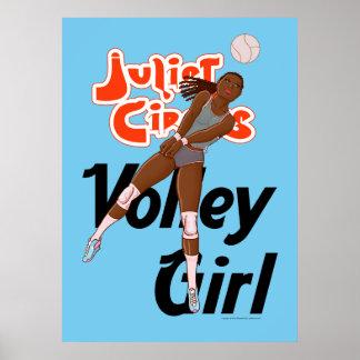 Poster Bleu de l'affiche 06 de fille de volée - cirque de