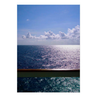 Poster Bleu d'océan