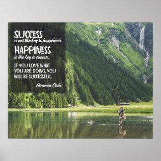 Poster Bonheur la clé au succès