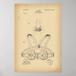 Poster Bouclier de sein de 1899 brevets