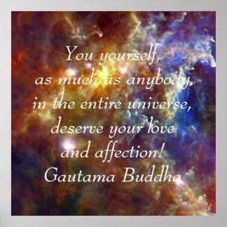 Poster Bouddha votre amour et affection
