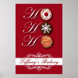 Poster Boulangerie de beignet de beignet de biscuits de