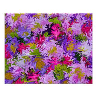 Poster Bouquet d'affiche d'art abstrait de couleurs