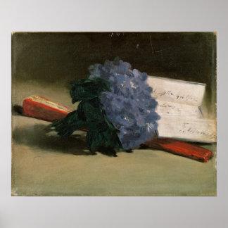 Poster Bouquet de Manet | des violettes, 1872