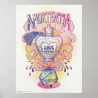 Poster Bouteille de philtre d'amour du charme |