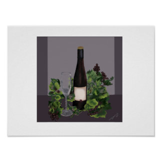 Poster Bouteille de vin