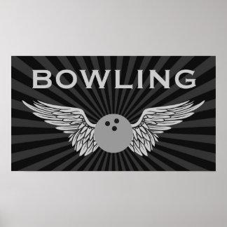 Poster bowling à ailes
