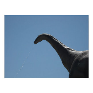 Poster Brontosaure de dinosaure
