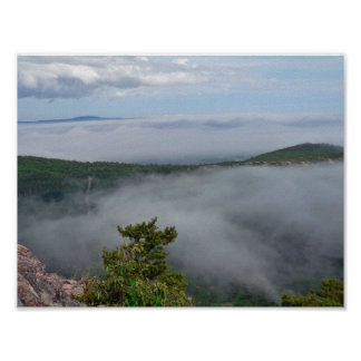Poster Brouillard autour de grande tête, Acadia NP, Maine