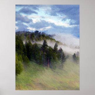 Poster Brouillard de matin