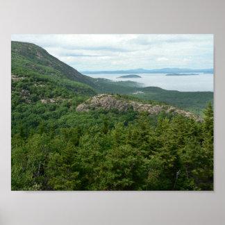 Poster Brouillard outre de parc national d'Acadia, Maine