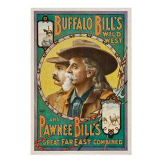 Poster Buffalo Bill et affiche occidentale sauvage
