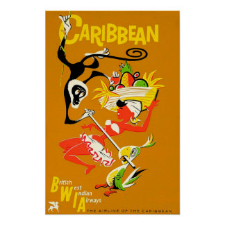 Poster BWIA - Des Caraïbes