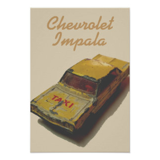 Poster Cabine vintage de jaune de boîte d'allumettes