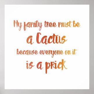 Poster Cactus de famille