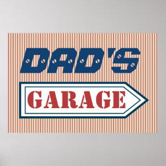 Poster Cadeau automatique d'affiche de signe de garage du