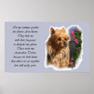 Poster Cadeaux d'art de Terrier australien