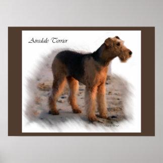 Poster Cadeaux d'impression d'art d'Airedale Terrier