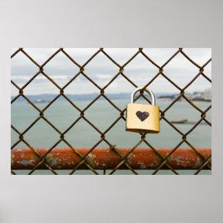 Poster cadenas d'amour