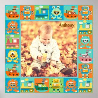 Poster Cadre unique de photo d'enfants