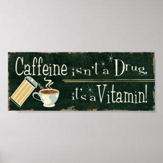 Poster Café comme vitamines 2