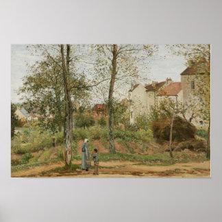 Poster Camille Pissarro - Chambres chez Bougival