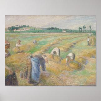 Poster Camille Pissarro - la récolte