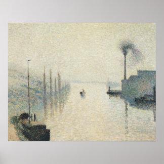 Poster Camille Pissarro - l'île Lacroix, Rouen