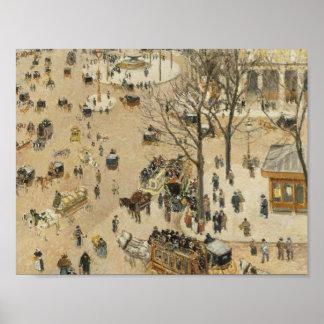 Poster Camille Pissarro - théâtre dû Francais d'endroit