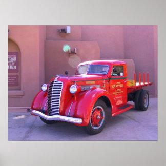 Poster Camion rouge d'Oldtimer