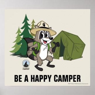 Poster Campout américain de Rick | de garde forestière
