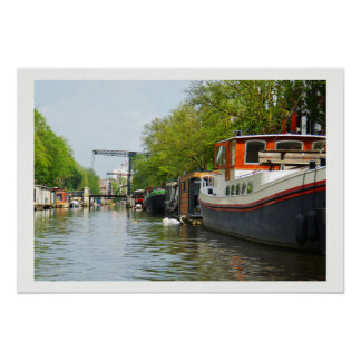 Poster Canal à Amsterdam