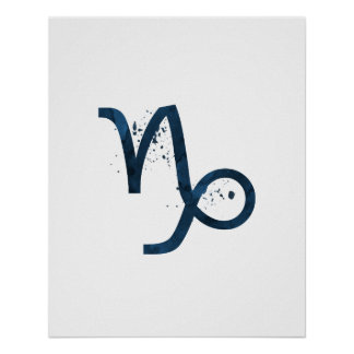 Poster Capricorne astrologique de signe