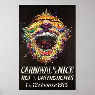 Poster Carnaval de Nice, gastronomes de DES de ROI,