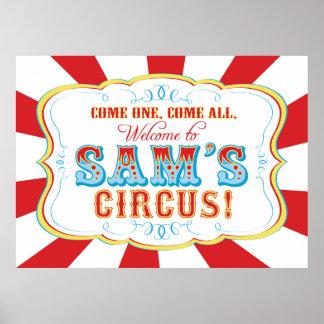 Poster Carnaval ou bannière d'anniversaire de cirque pour