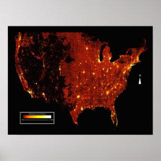 Poster Carte de fraction développée par Etats-Unis