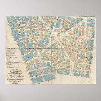 Poster Carte de Manhattan